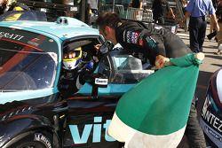 Race winnaars Michael Bartels en Andrea Bertolini