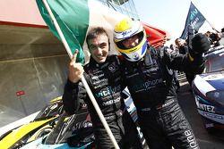 Race winners Michael Bartels and Andrea Bertolini