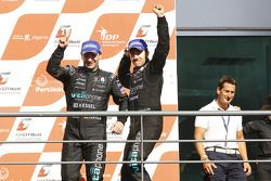 Podium: race winners Michael Bartels and Andrea Bertolini