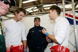 Leo Mansell et Greg Mansell avec Nigel Mansell