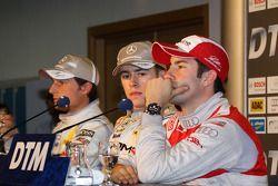 Conférence de presse : Paul di Resta (Mercedes), auteur de la pole position devant Bruno Spengler (M