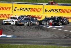 Départ : Paul di Resta, Team HWA AMG Mercedes C-Klasse et Bruno Spengler, Team HWA AMG Mercedes C-Klasse
