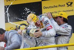 Podium: race winner Paul di Resta, Team HWA AMG Mercedes, second place Bruno Spengler, Team HWA AMG