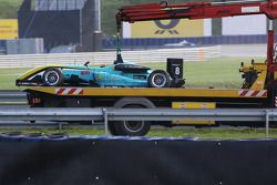 La voiture de Daniel Juncadella, Prema Powerteam Dallara F308 Mercedes