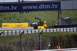 Edoardo Mortara, Signature Dallara F308 Volkswagen out of the race