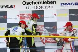 Podium: 1er Jim Pla, ART Grand Prix Dallara F308 Mercedes, 2e Marco Wittmann, Signature Dallara F308