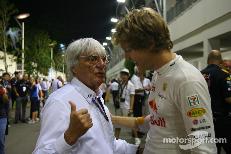 Sebastian Vettel, Red Bull Racing con Bernie Ecclestone