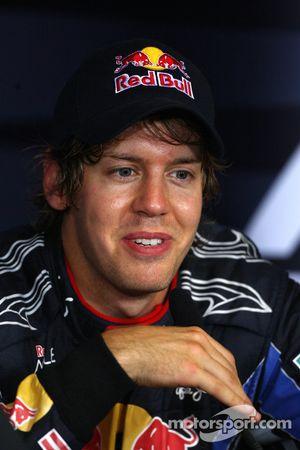 Segundo lugar Sebastian Vettel, Red Bull Racing