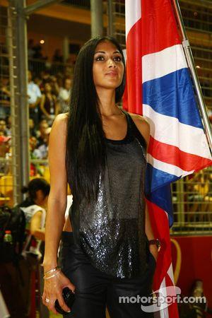 Nicole Scherzinger, Singer in the Pussycat Dolls and girlfriend of Lewis Hamilton
