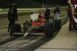 Pit stop for Marco Andretti, Andretti Autosport, splash and go