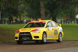 Alex Raschi et Rudy Pollet, Mitsubishi Lancer Evo X, Pilote star Pirelli