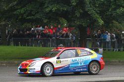 Yvan Muller and Gilles Mondesier, Citroën Xsara WRC