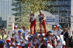 Podium: Sébastien Loeb and Daniel Elena, Citroën C4, Citroën Total World Rally Team