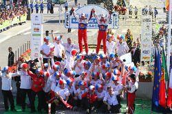 Podio: Sébastien Loeb y Daniel Elena, Citroën C4, Citroën Total World Rally Team