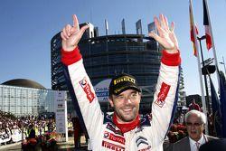 Podium : Sébastien Loeb, Citroën C4, Citroën Total World Rally Team