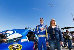 Kurt Busch, Penske Racing Dodge, et sa femme Eva