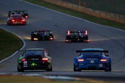 #23 Alex Job Racing Porsche 911 GT3 Cup: Bill Sweedler, Romeo Kapudija, Jan-Dirk Lueders, #17 Team Falken Tire Porsche 911 GT3 RSR: Bryan Sellers, Martin Ragginger