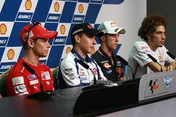 Conferencia de prensa previa al GP: Casey Stoner, Jorge Lorenzo, Andrea Dovizioso, Marco Simoncelli