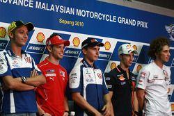 Conferencia de prensa previa al GP: Valentino Rossi, Casey Stoner, Jorge Lorenzo, Andrea Dovizioso,