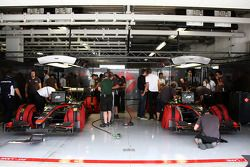Hispania Racing F1 Team garage