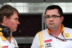 Alan Permane, Renault F1 Team, Engineer, Eric Boullier, Team Principal, Renault F1 Team