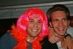 Jean-Eric Vergne finds a friend