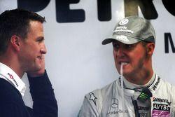 Ralf Schumacher y su hermano Michael Schumacher, Mercedes GP