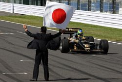 Bruno Senna, Hispania Racing F1 Team iconduce el 1986 Lotus Renault Turbo de Ayrton Senna