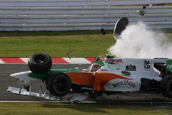Vitantonio Liuzzi, Force India F1 Team crash