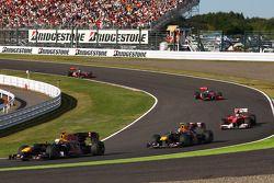 Sebastian Vettel, Red Bull Racing devance Mark Webber, Red Bull Racing et Fernando Alonso, Scuderia
