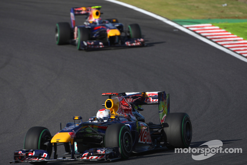 Sebastian Vettel, Red Bull Racing devance Mark Webber, Red Bull Racing