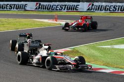 Sakon Yamamoto, Hispania Racing F1 Team devance Jarno Trulli, Lotus F1 Team