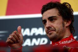 Podio: tercero Fernando Alonso, Scuderia Ferrari