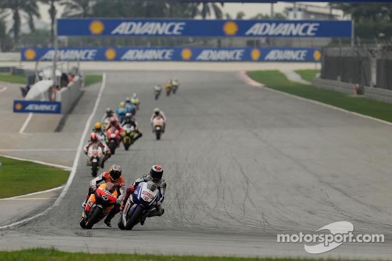 Andrea Dovizioso, Repsol Honda Team y Jorge Lorenzo, Fiat Yamaha Team