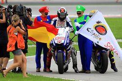 2010 MotoGP champion Jorge Lorenzo, Fiat Yamaha Team celebrates