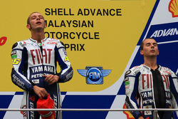 Podio: ganador de la carrera Valentino Rossi, Fiat Yamaha Team, tercer y campeón MotoGP 2010 Jorge