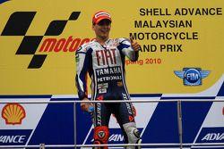 Podium: third place and 2010 MotoGP champion Jorge Lorenzo, Fiat Yamaha