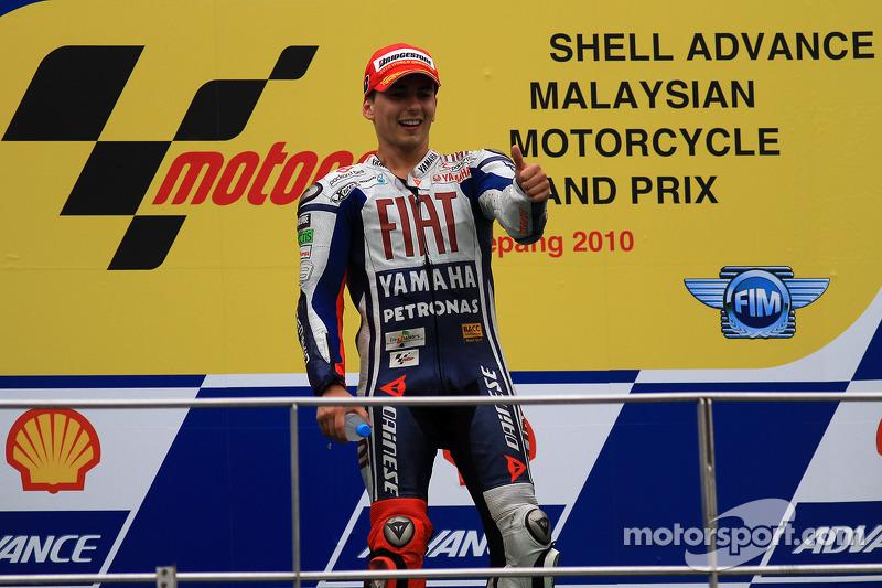 Podium: 3de 2010 MotoGP kampioen Jorge Lorenzo, Fiat Yamaha