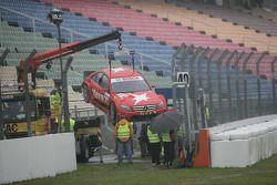 Congfu Cheng, Persson Motorsport, AMG Mercedes C-Klasse après son accident dans la courbe Sachs