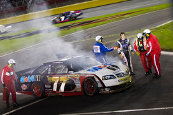 Crash de Sam Hornish Jr., Penske Racing Dodge