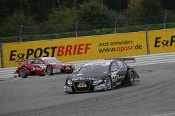 Timo Scheider, Audi Sport Team Abt Audi A4 DTM en Mike Rockenfeller, Audi Sport Team Phoenix Audi A4