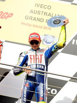 Podio: tercer lugar Valentino Rossi, Fiat Yamaha Team