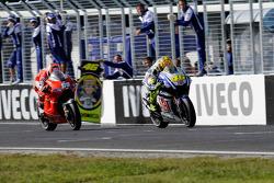 Valentino Rossi, Fiat Yamaha Team y Nicky Hayden, Ducati Marlboro Team