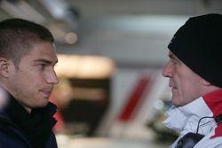 Edoardo Mortara, Signature, Dallara F308 Volkswagen and Dr. Wolfgang Ullrich, Audi's Head of Sport