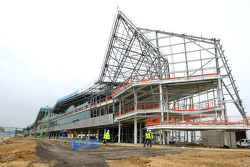 Construction progress on Silverstone's new pit, paddock and conference complex that is scheduled for