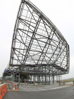 Construction progress on Silverstone's new pit, paddock and conference complex that is scheduled for completion in 2011