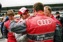 Pole winner Timo Scheider, Audi Sport Team Abt Audi A4 DTM