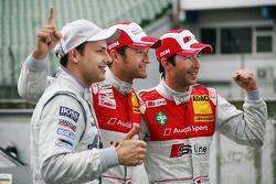 Pole winner Timo Scheider, Audi Sport Team Abt Audi A4 DTM, second place Mike Rockenfeller, Audi Spo
