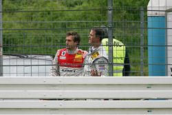 Crash at the start: Markus Winkelhock, Audi Sport Team Rosberg Audi A4 DTM, Ralf Schumacher, Team HW