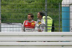 Crash at the start: Markus Winkelhock, Audi Sport Team Rosberg Audi A4 DTM, Ralf Schumacher, Team HW
